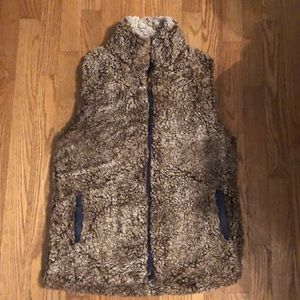 Simply Southern brown Sherpa vest medium